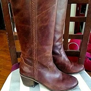 Lucky Brand top qual MAHOGANY Lthr Boots